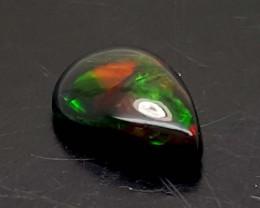 1.10 Crt Black Opal Multi Fire  amazing  stone Smoked Treated JL121