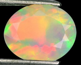 1.65 Cts Natural Multi Color Play Ethiopian Faceted Opal