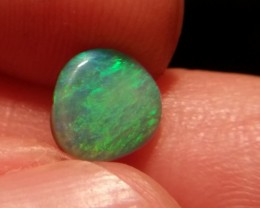 1ct lightning ridge semi black opal with multiple Gem colors