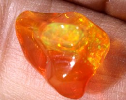 5.2 CTS MEXICAN FIRE OPAL CARVED STONE FOB-1178