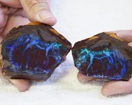 1187CTS THE TIGER  SPLIT   BOULDER OPAL CF 1395