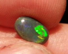 0.70cts lightning ridge TOP GEM black opal with multiple Gem colors