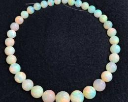 256ctw AAA Gem Quality 9-16mm Ball Shape Welo Ethiopia Opal Bead Strand