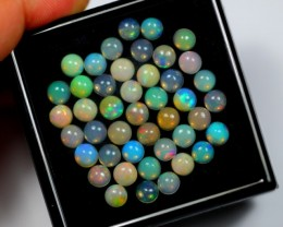 NR Auction ~ 15.18Ct Round 5.0mm Welo Opal Parcel Lot