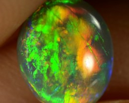 0.65 CTS SEMI-BLACK OPAL - VERY BRIGHT MULTI-COLOUR GEM - N6 - ID:1085