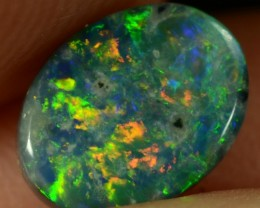 0.65CTS BLACK OPAL - MULTI-COLOUR GEM WITH SMALL INCLUSIONS -N2 -ID:20288