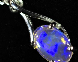 0.50CTS 18K WHITE GOLD  CRYSTAL  OPAL  PENDANT SETTING CF1377