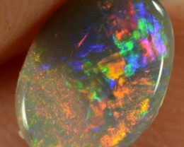0.85CTS SEMI-BLACK OPAL - FULL SPECTRUM RAINBOW COLOURS GEM - N6 - ID:20051