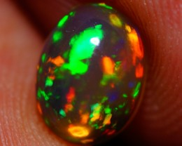8X6MM EXQUISITE QUALITY DARK FLASHY MULTI COLOR WELO CABOCHON OPAL-A210
