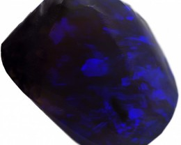 43.60 CTS BLACK  CRYSTAL OPAL ROUGH -RUBBED [BR5779]safe