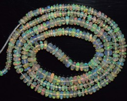 22.40 Ct Natural Ethiopian Welo Opal Beads Play Of Color