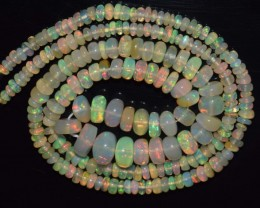 27.95 Ct Natural Ethiopian Welo Opal Beads Play Of Color