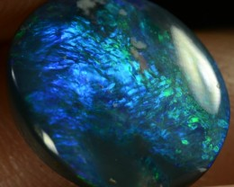 2.35CTS BLACK OPAL - ELECTRIC AQUA BLUE/GREEN COLOUR GEM - N3 - ID:10274