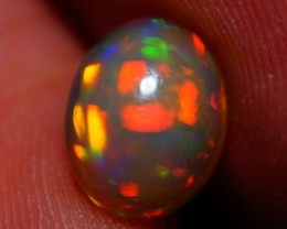 1.27 CT BROADFLASH MULTI RAINBOW FLASHY ETHIOPIAN  OPAL-A250
