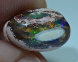 9.5ct Mexican Rainbow Opal Slotted Wirewrap ready