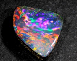 FREE SHIPPING  6.20 CTS NICE SUPER BRIGHT BOULDER OPAL FROM WINTON AREA