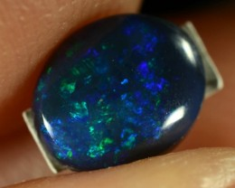0.45CTS BLACK OPAL - ELECTRIC PURPLE/GREEN GEM - N2 - ID:20695