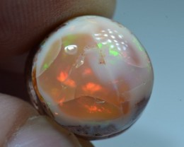 6.5ct Mexican Fiery Opal Slotted Wirewrap ready