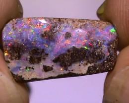5.55 ct Beautiful Multi Color Solid Queensland Boulder Opal