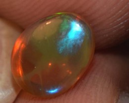 1.75 Cts Ethiopian Welo Fire Opal Cabochon Natural No Reserve
