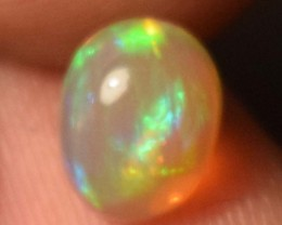 0.95 Cts Ethiopian Welo Fire Opal Cabochon Natural No Reserve