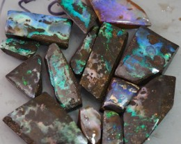 340CT QUEENSLAND BOULDER OPAL ROUGH  TO167