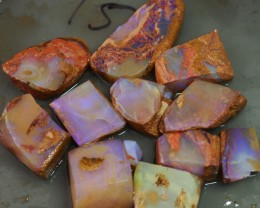 384CT WOOD FOSSIL BOULDER OPAL  TO173