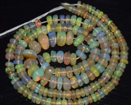 43.45 Ct Natural Ethiopian Welo Opal Beads Play Of Color
