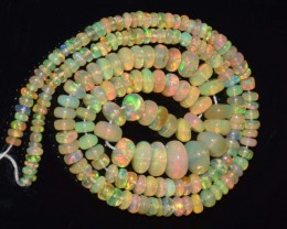 33.60 Ct Natural Ethiopian Welo Opal Beads Play Of Color