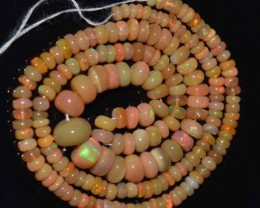 44.90 Ct Natural Ethiopian Welo Opal Beads Play Of Color