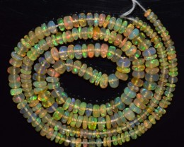 29.55 Ct Natural Ethiopian Welo Opal Beads Play Of Color
