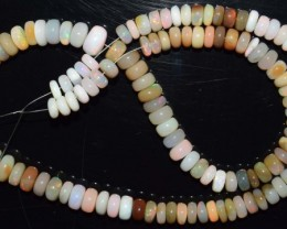 119.05 Ct Natural Ethiopian Welo Opal Beads Play Of Color