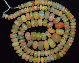 45.90 Ct Natural Ethiopian Welo Opal Beads Play Of Color