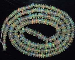 22.95 Ct Natural Ethiopian Welo Opal Beads Play Of Color