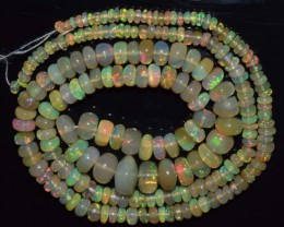 43.10 Ct Natural Ethiopian Welo Opal Beads Play Of Color