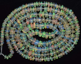 21.70 Ct Natural Ethiopian Welo Opal Beads Play Of Color