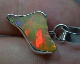No reserve Solid Opal .925 Sterling Silver Pendant Mexican Taxco