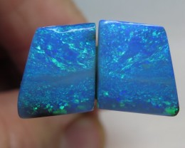9.38Ct Queensland Boulder Opal Stone Pair