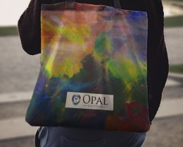 Official Opal Auctions Tote Bag - Black Opal Pattern