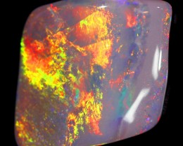 2.96 cts NEON FIRE SHELL FOSSIL OPAL BB113