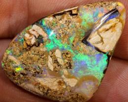 Beautiful 32ct 30x24mm Pipe Wood Fossil Boulder Opal  [LOB-781]