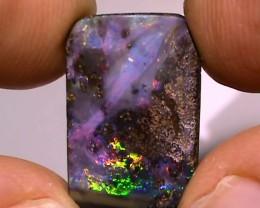 10.40 ct $1 NR ct Boulder Opal With Natural Gem Multi Color