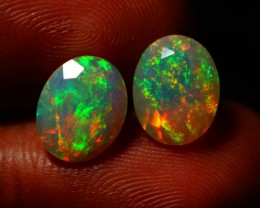 3.73 CT 10X8 MM TOP QUALITY BEAUTIFUL FLASHY MULTI COLOR WELO FACETED OPAL