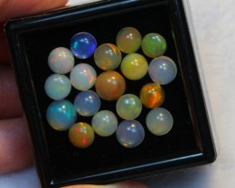 NR Auction ~ 10.66ct Round 6mm Welo Opal Parcel Lot