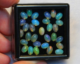 NR Auction ~ 9.21ct Oval 6x4mm Welo Opal Parcel Lot