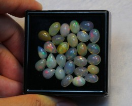 NR Auction ~ 21.83ct Pear & Oval Mix Size Welo Opal Parcel Lot