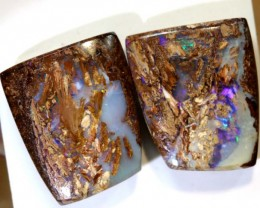 28.10CTS BOULDER OPAL PAIR POLISHED CUT STONE TBO-7605