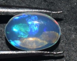 0.85 Cts Ethiopian Welo Fire Opal Cabochon Natural No Reserve
