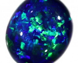 2.5 CTS TOP GEM BLACK OPAL HIGH CABOCHON  SB 1003