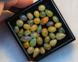 NR Auction ~ 22.26ct Oval & Pear Mix Size Welo Opal Parcel Lot